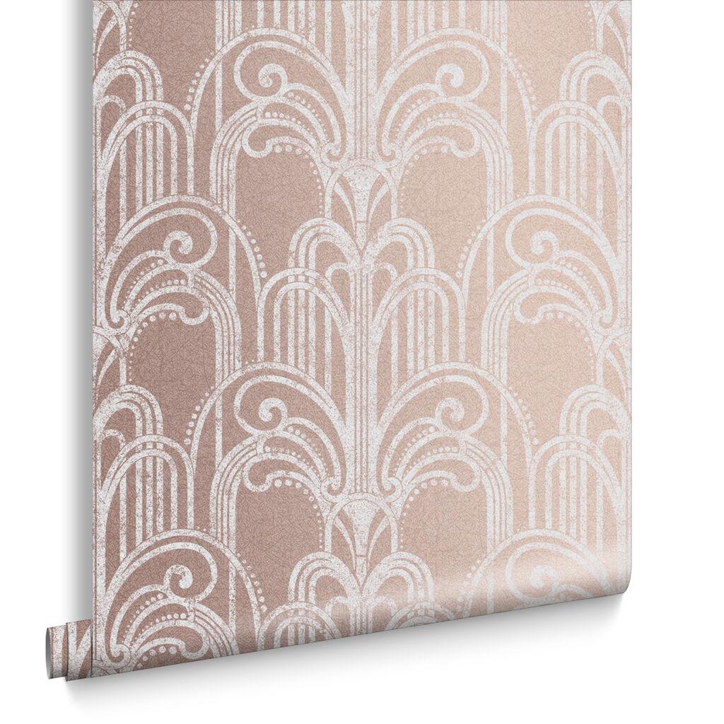Art deco rose gold wallpaper grahambrownuk for Deco appartement rose