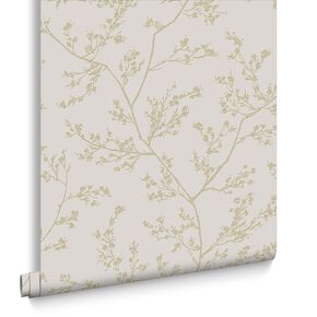 Springtime Beige & Gold Behang, , large