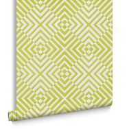 The Hypnotist Lime and Ice Wallpaper, , large