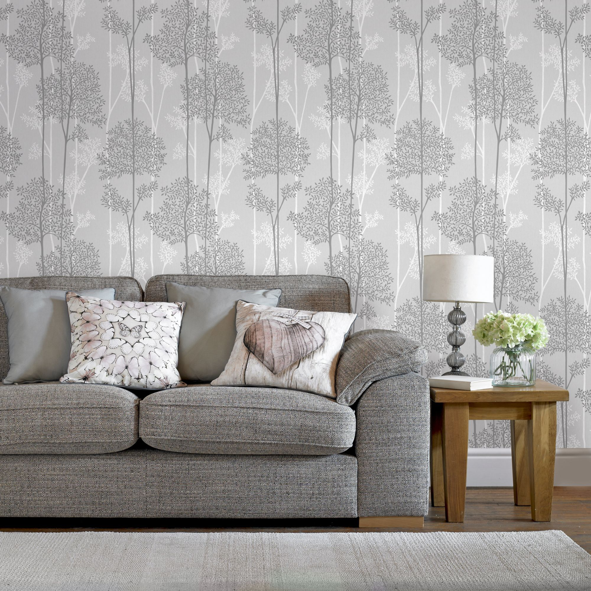 ... Large Eternal Grey Wallpaper, ...