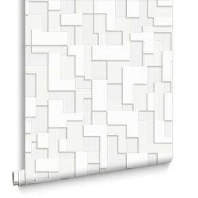 Checker White Wallpaper, , large
