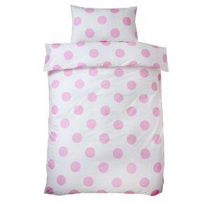 Pink Dotty Pillowcase, , large