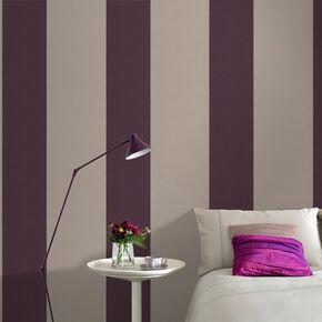 Glitz Damson and Cappuccino Wallpaper, , large