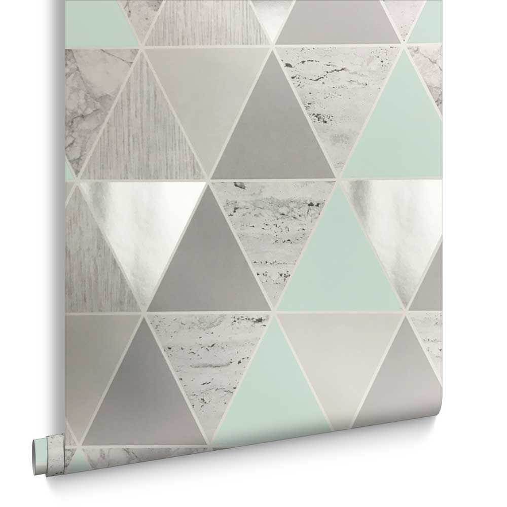 Mint Reflections Wallpaper, , Large ...