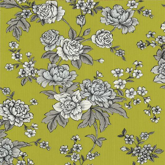 Kensington Chartreuse Wallpaper, , large