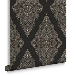 Jewel Black & Gold Behang, , large