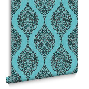 Luna Turquoise Wallpaper, , large