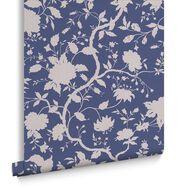 Botanic Prussian Blue Wallpaper, , large