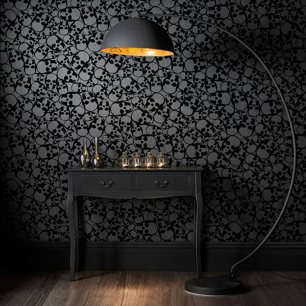 skulls black wallpaper graham amp brown