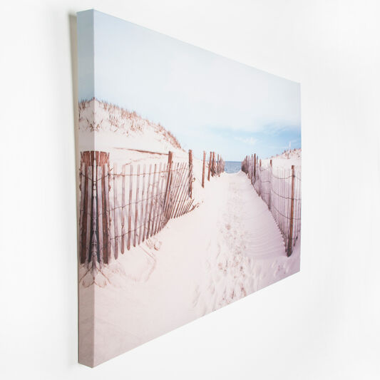 Walk To The Beach Printed Canvas, , large