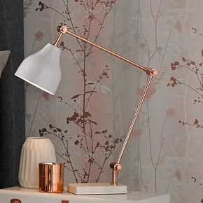 Rose Gold and Marble Desk Lamp, , large