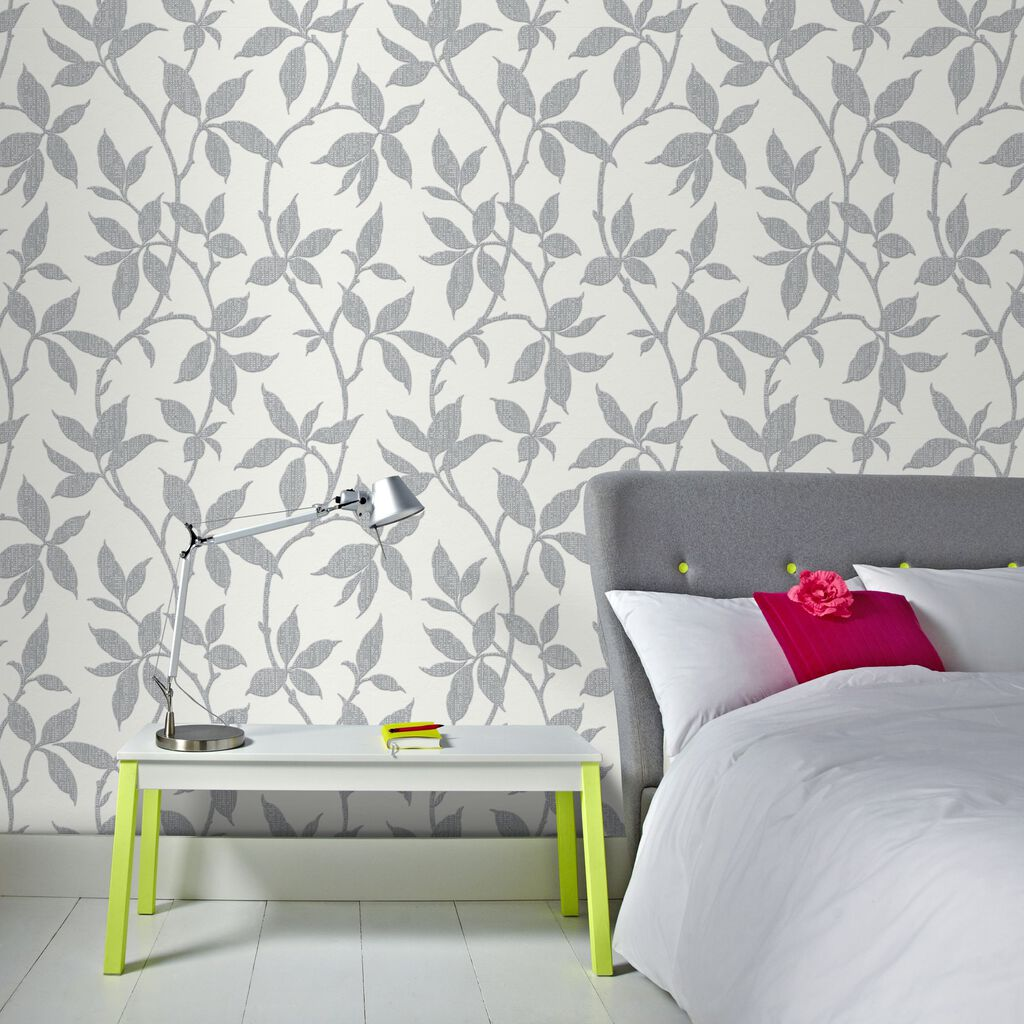 elisa soft grey wallpaper graham brown. Black Bedroom Furniture Sets. Home Design Ideas