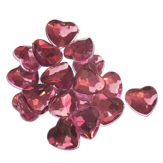 Heart Shaped Self Adhesive Jewels, , large