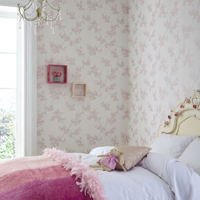 Large Cherry Blossom Soft Pink Wallpaper