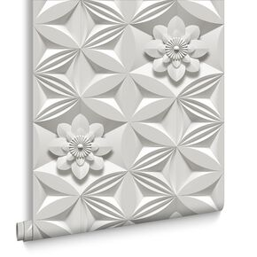 Wall Flower Limestone Wallpaper, , large