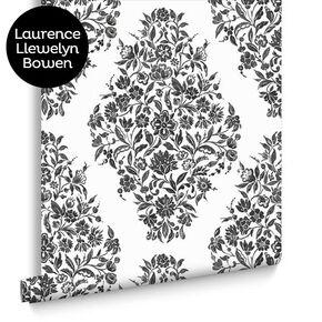 Floribunda Black and White Wallpaper, , large