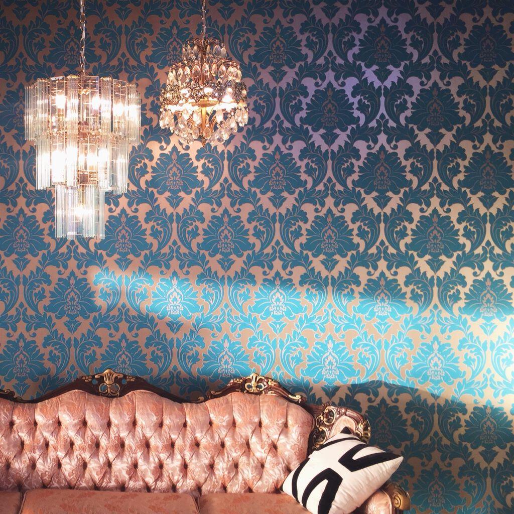 majestic teal wallpaper graham brown. Black Bedroom Furniture Sets. Home Design Ideas