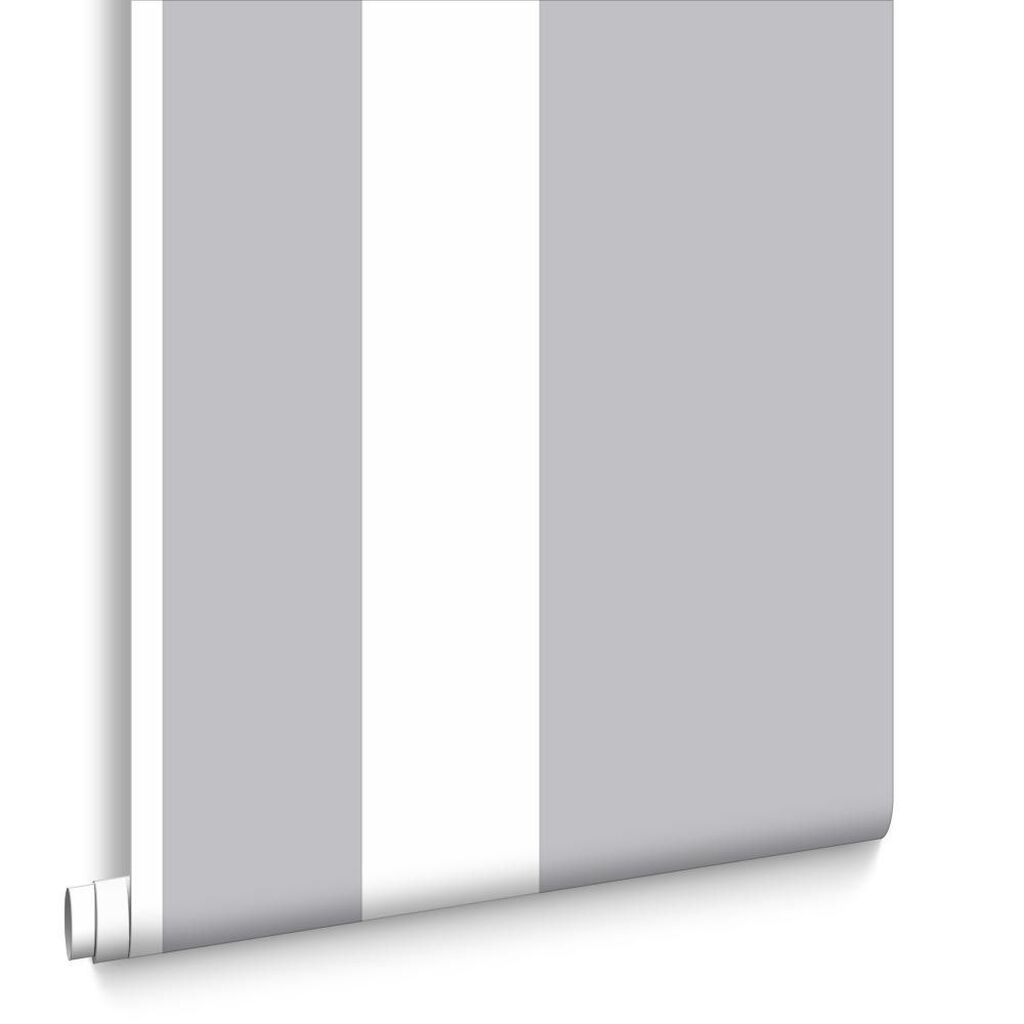 Gray and white striped wallpaper - Runner Silver Wallpaper Large