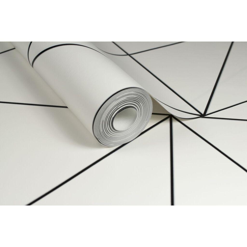 Geo black and white wallpaper grahambrownuk for White wallpaper uk