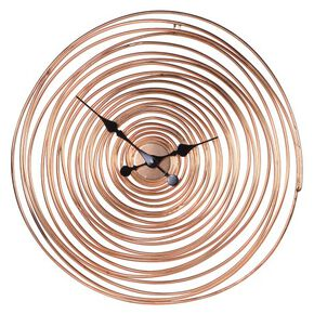 Geometric Swirl Rose Gold Clock, , large