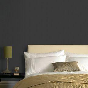 Textile Uni Black Wallpaper, , large