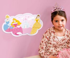 Stickers muraux en mousse Princesses, , large