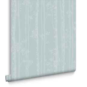 Linden Blue & White Behang, , large