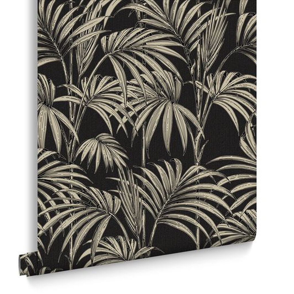 Honolulu Black And Gold Wallpaper Grahambrownuk