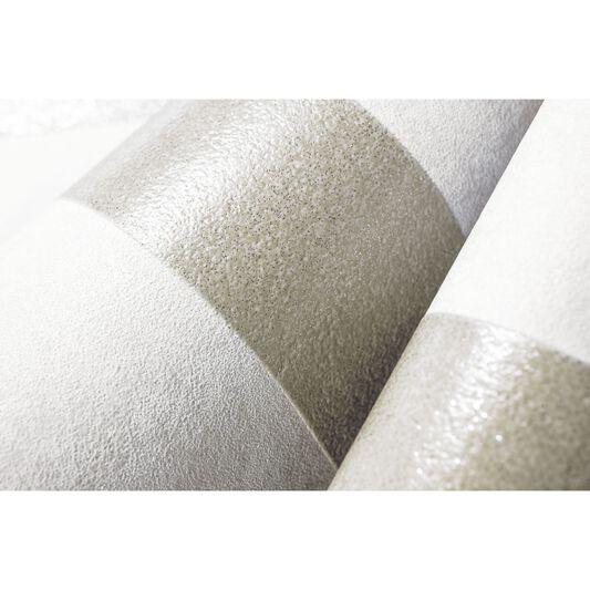 Helen Glitter Stripe Gold & Cream Wallpaper, , large