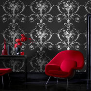 De Lacey Black Wallpaper, , large