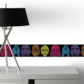 Star Wars Neon Head Border, , large