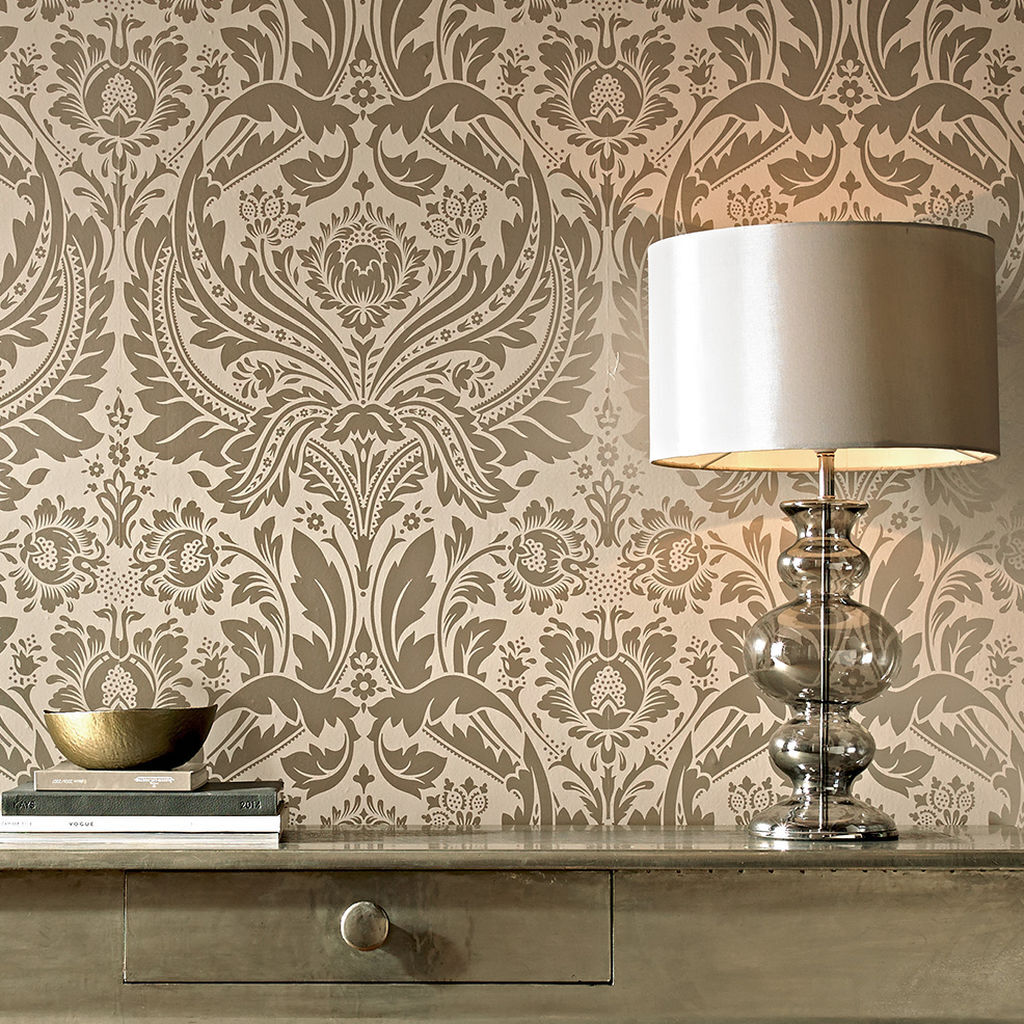 desire taupe and metallic wallpaper graham brown. Black Bedroom Furniture Sets. Home Design Ideas