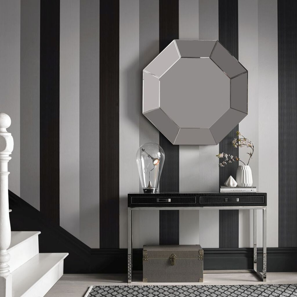 Figaro black wallpaper grahambrownuk Black and white living room wallpaper