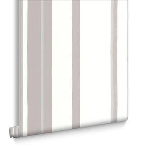 Hoppen Streifen Weiß und Grau und Silber, , large