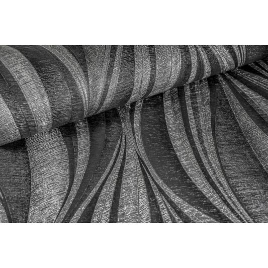 Tango Charcoal and Silver Wallpaper, , large