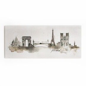 Paris Watercolour Printed Canvas, , large