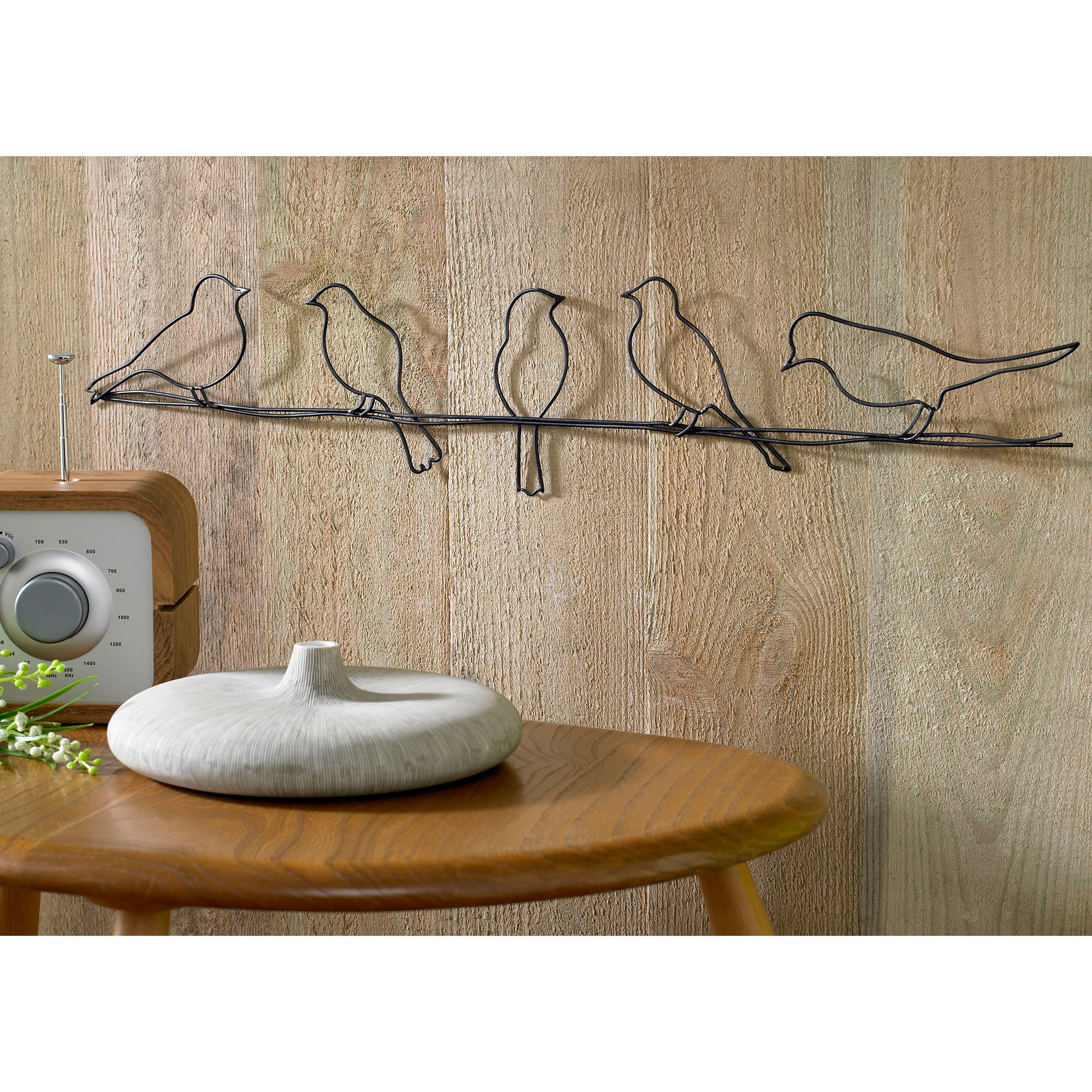 Birds On A Wire Metal Wall Art, ...
