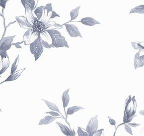 Clemmie Delft Blue Wallpaper, , large