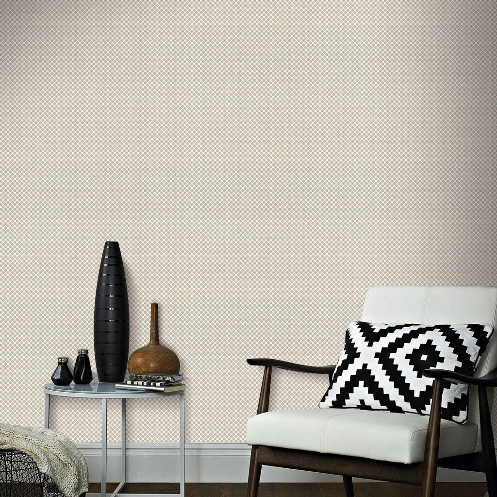 Neutral Trellis Wallpaper: Trellis Taupe Wallpaper