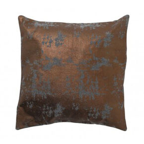 Copper and Grey Metallic Cushion, , large