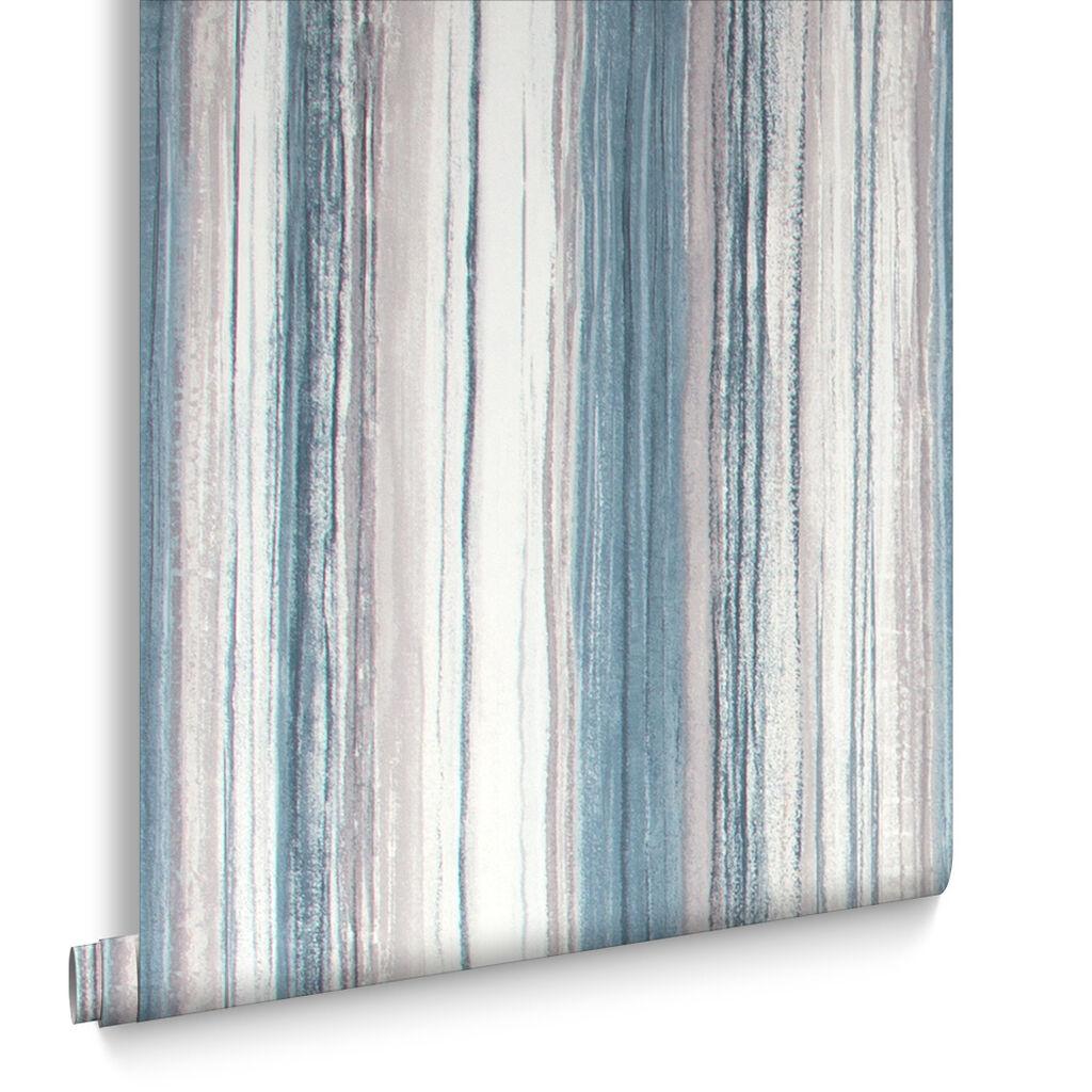Kitchen wallpaper stripes - Chelsea Stripe Night Sky Wallpaper
