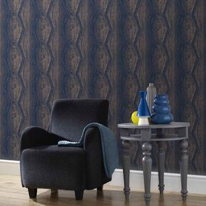 Vermeil Stripe Blue Wallpaper, , large