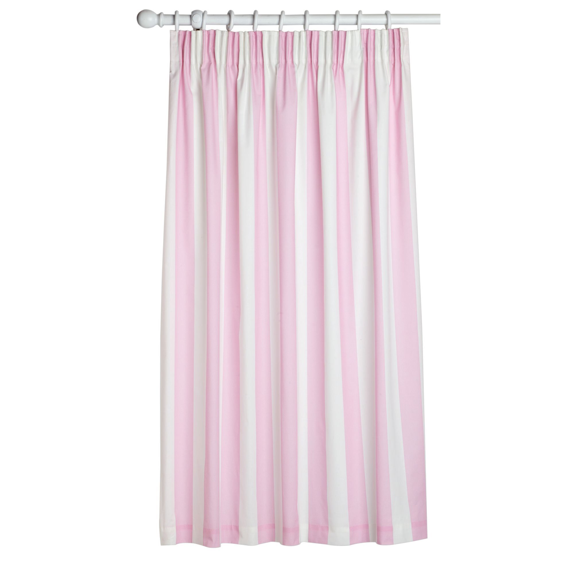 Attractive Pink White Curtains Grahambrownuk