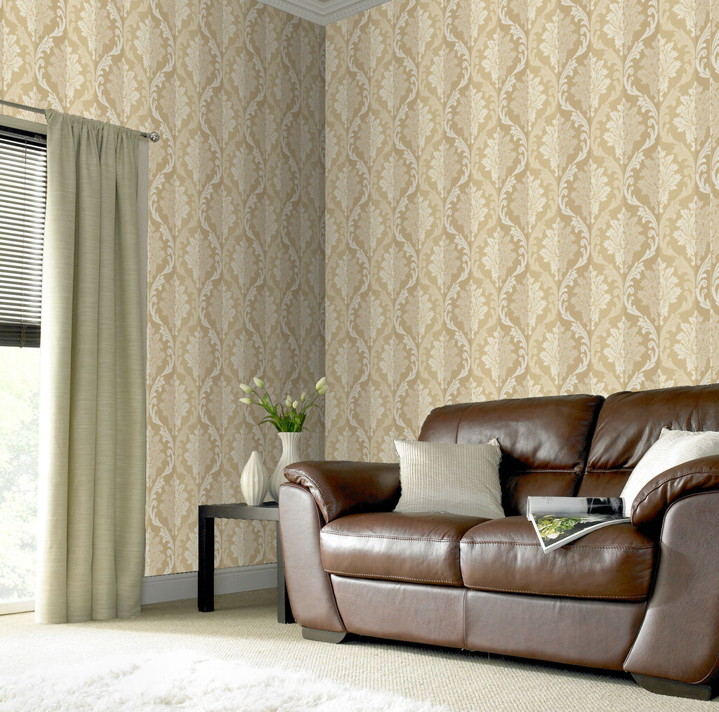Splendour cream wallpaper grahambrownus for Brown and cream living room wallpaper