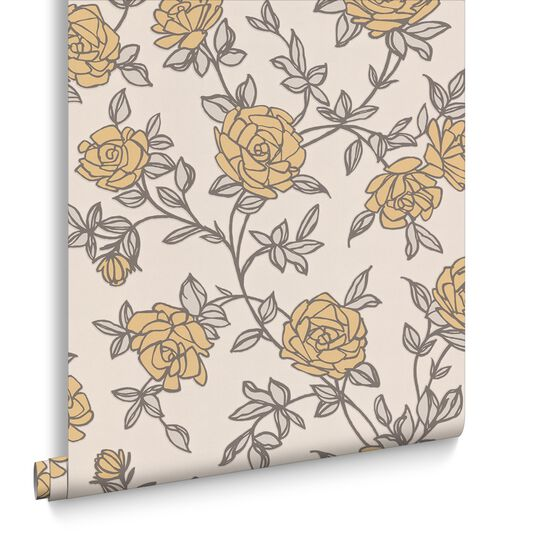 Rosa Yellow Wallpaper, , large