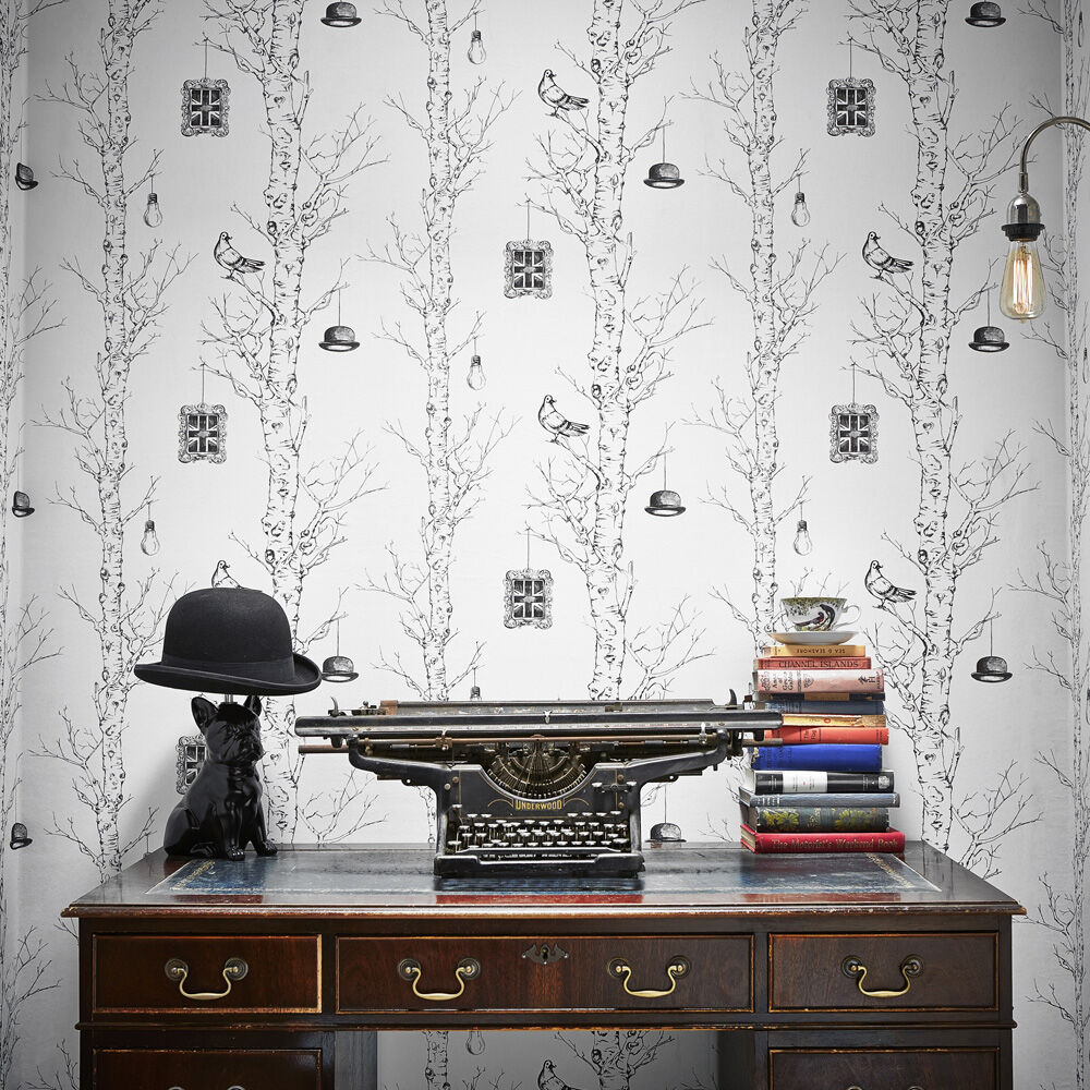 White Wallpaper Plain Patterned Designs Ivory