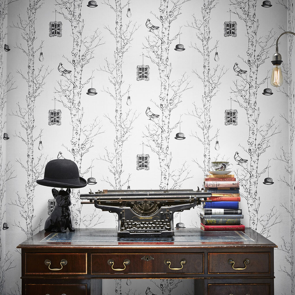 Eccentric Black And White Wallpaper Graham Amp Brown