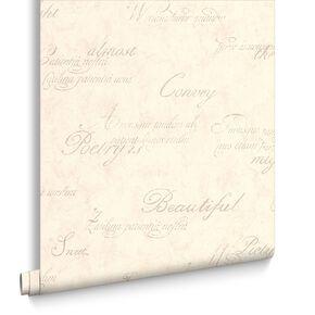 Concrete Script Ivory Wallpaper, , large