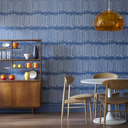 Loopy Lines Blue Wallpaper, , large