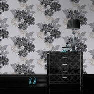 Cascada Black and White Wallpaper, , large